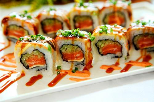 鲜虾色拉卷,蛋皮卷,太卷,锦绣花寿司 二,手卷寿司 日式炸猪排手卷